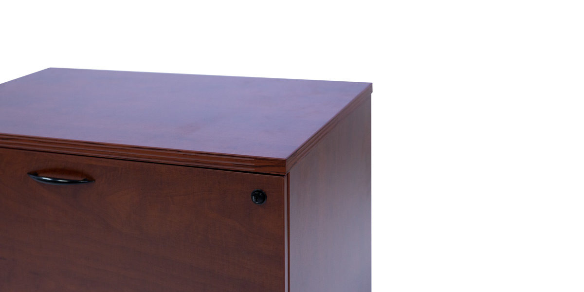 "30""W X 20""D 2 DRAWER LAMINATE LAT IN CHERRY FIL014430"