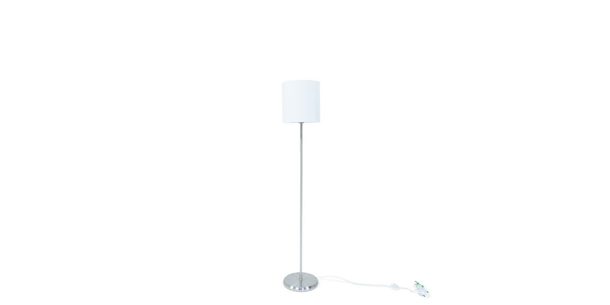 "61 1/2""H Floor Lamp Silver With White Shade LGT014558"