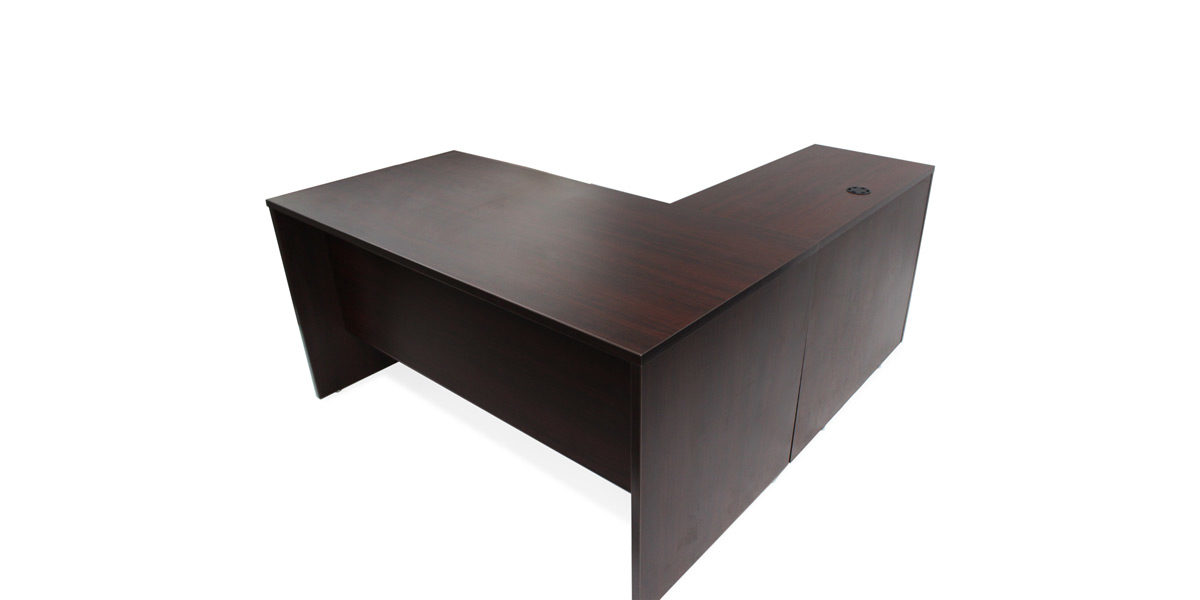"""60"""" x 30"""" Mahogany Laminate Single Ped. Right Desk DSK007720"""