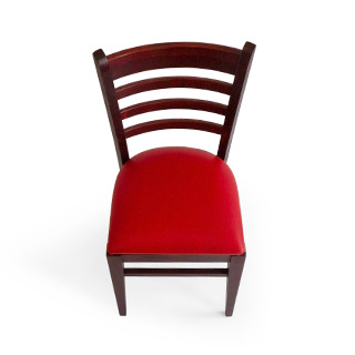 Mahogany Frame Red Leather Seat CHR003240