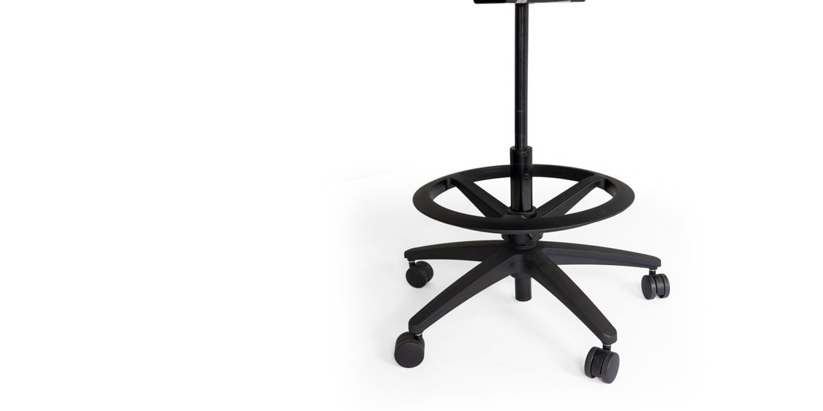 Black Drafting Stool With Foot Ring CHR014587
