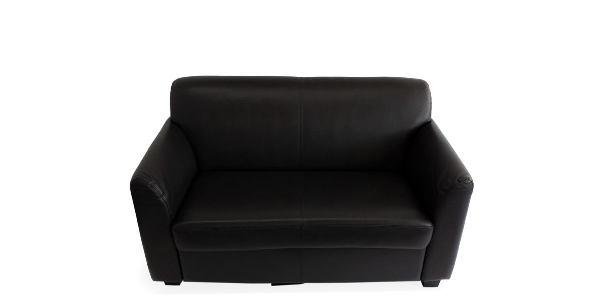 "53.5""W x 32""H x 28 3/4""D  Black Leather Loveseat LVS010676"
