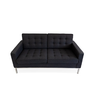 Dark Grey Florence Loveseat LVS014443
