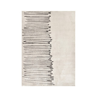 5' X 7' White/Black Design Rug MIS014610