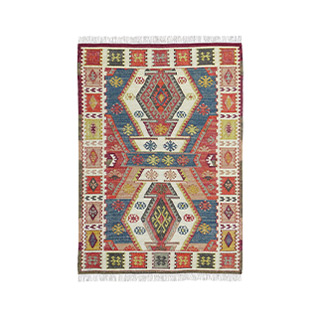 5' X 7' Wool/Cotton Multicolor Rug MIS014615