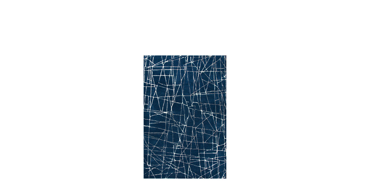 5' X 8' Blue/White Rug MIS014619