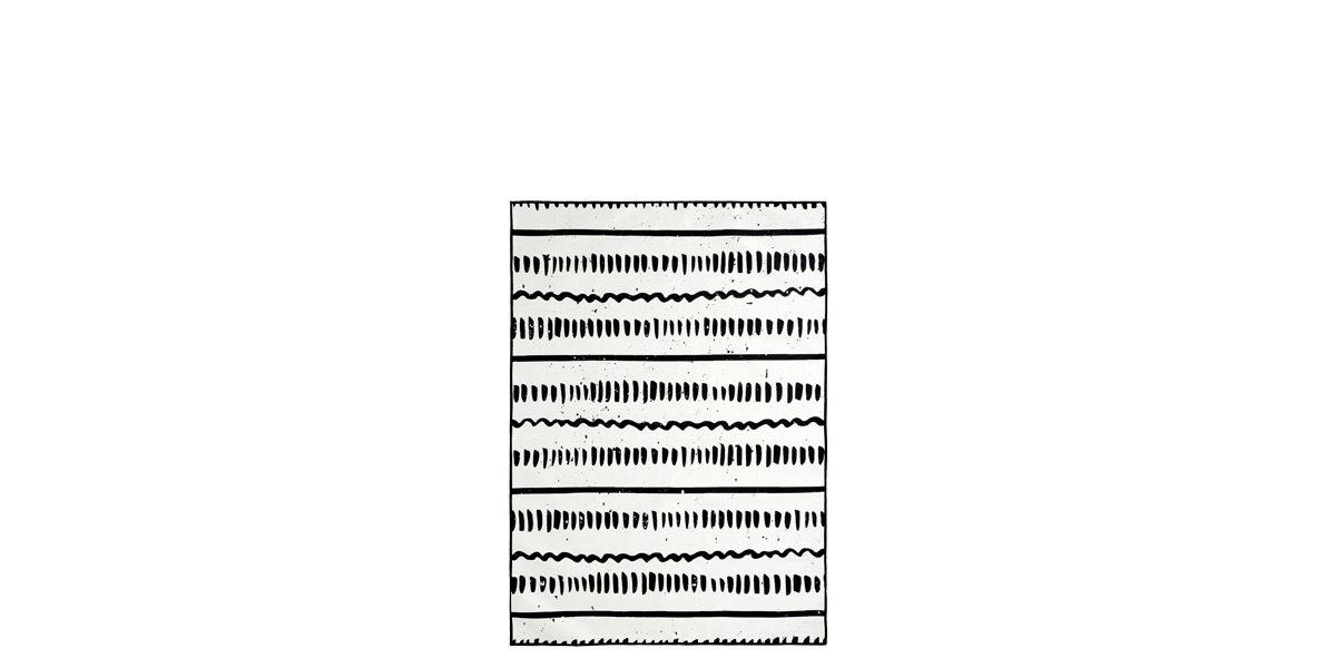 5' X 8' Black/White Rug MIS014620