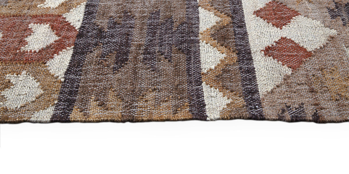 5' X 7' Orange/Brown Jute Rug MIS014628