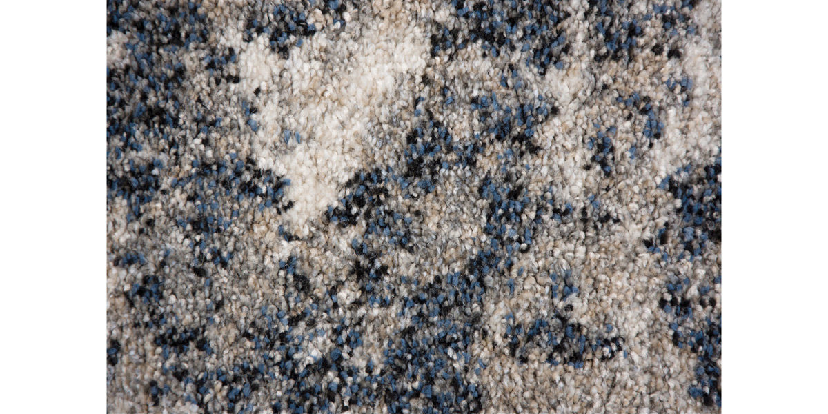 5' X 7' Blue/Beige Jute Rug MIS014632