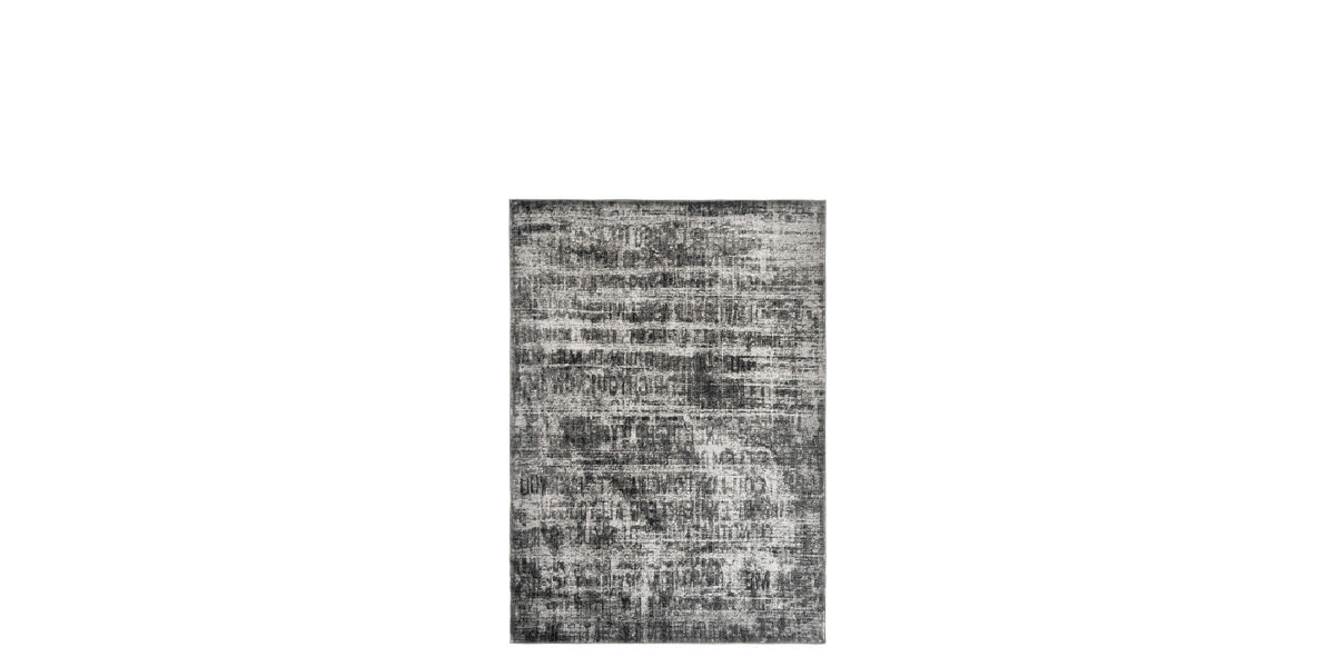 5' X 7' Grey/Black Jute Rug MIS014634