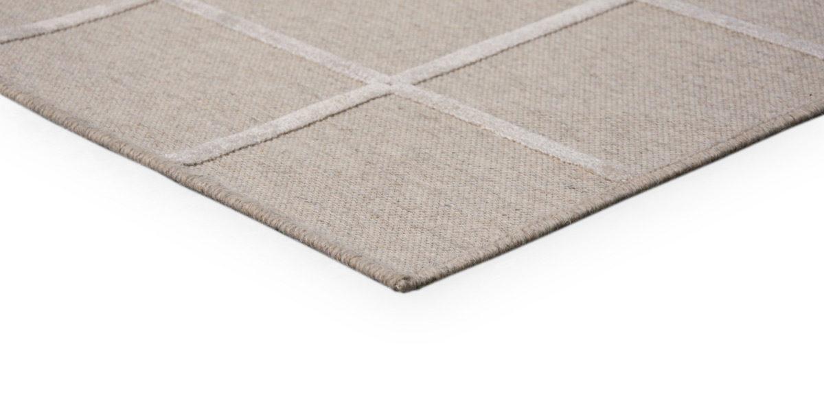 5' X 7' Beige Cotton Rug MIS014637
