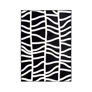5' X 8' Woven Black/White Rug MIS014638