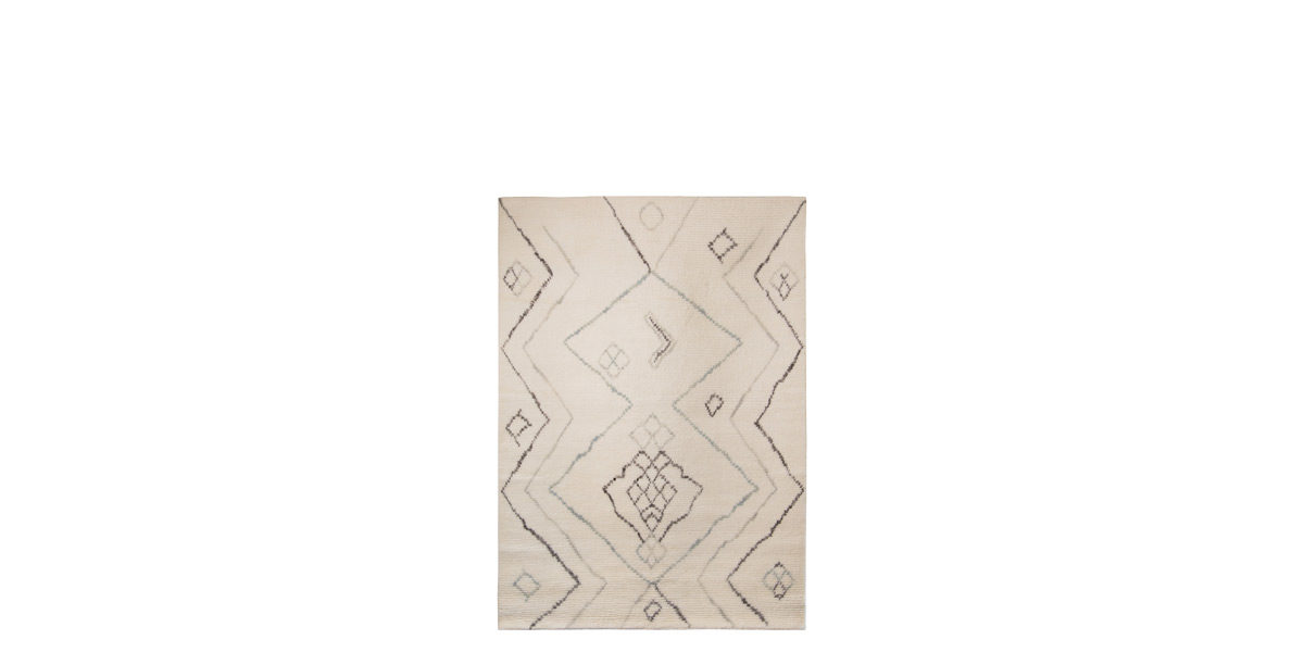5' X 7' Natural Wool/Cotton Rug MIS014644