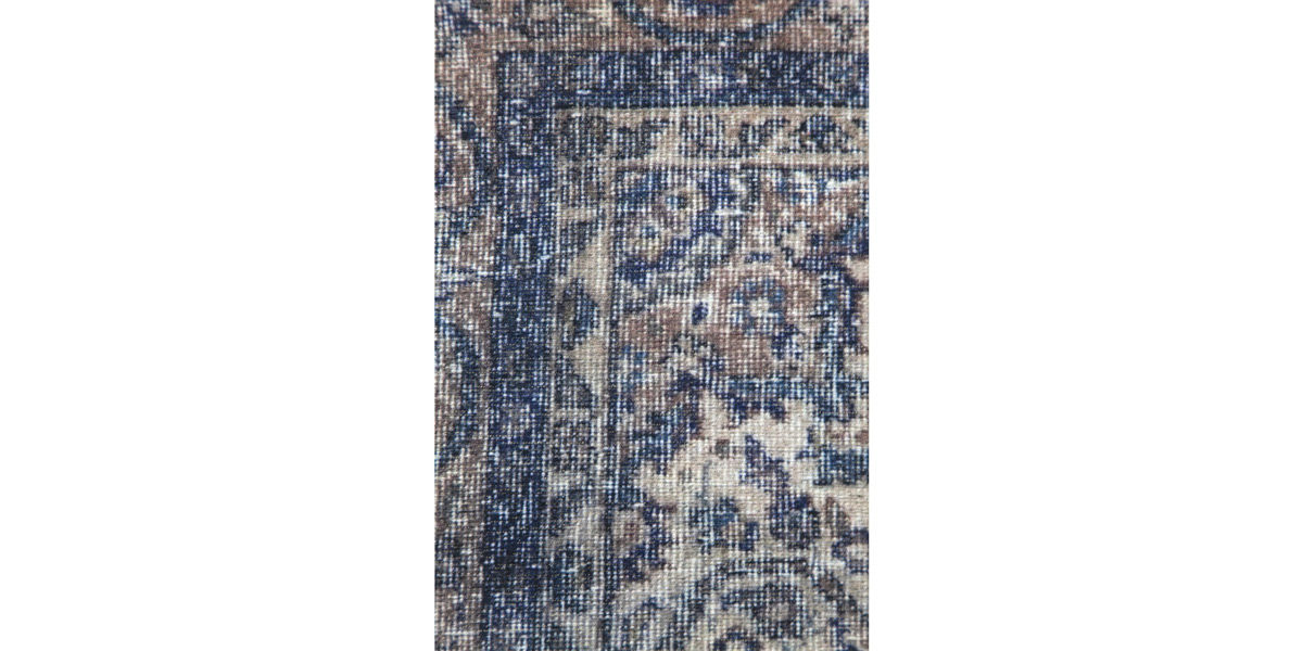 5' X 7' Flat-Woven and Printed Blue Rug MIS014647