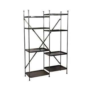 "48""W x 73.5""H Dark Grey Shelving Unit SHV014666"