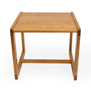 "22""w x 20.5""d x 20""h End Table Medium Oak TBL014509"