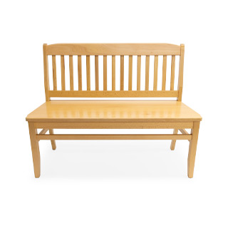 44''L x 18''HT Armless Oak Wood Bench BEN007248