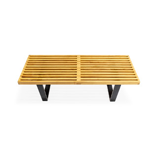 "48""L X 18.5""D Slated George Nelson Wood Bench BEN012184"
