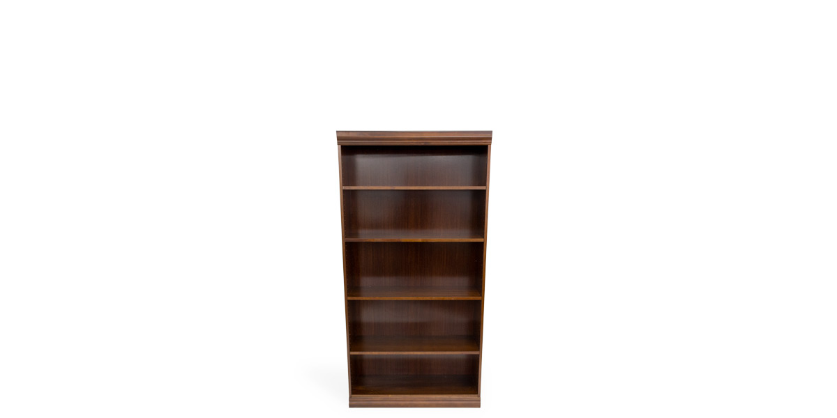"72""H X 36""W Traditional Trimmed Walnut Bookcase BKC012466"