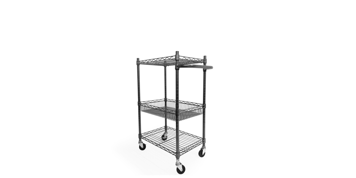 """24"""" X 16"""" X 39"""" Wire Rolling Cart MIS013396"""