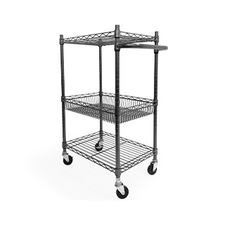 "24"" X 16"" X 39"" Wire Rolling Cart MIS013396"