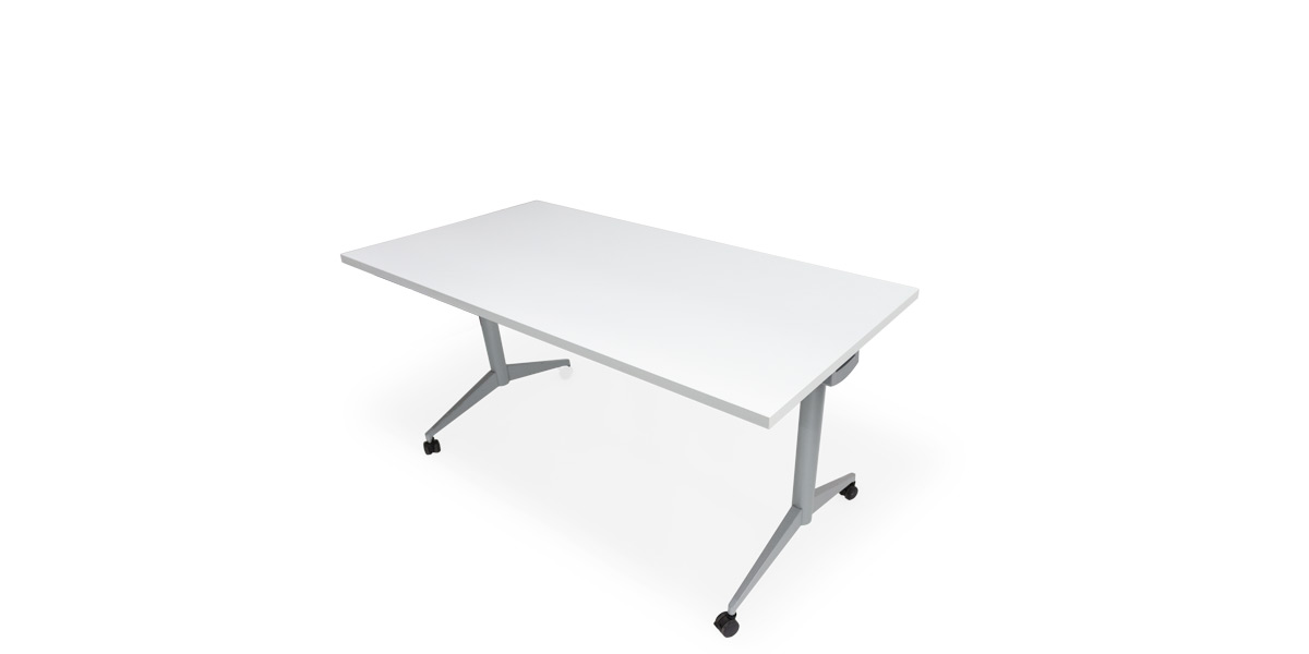"60"" X 30"" White Flip Top Table TBL014530"
