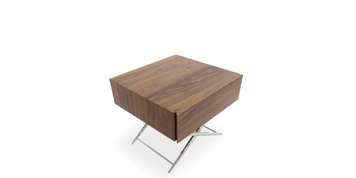 "16.8""H X 19.5""W X 19.2""D Walnut End Table TBL014605"
