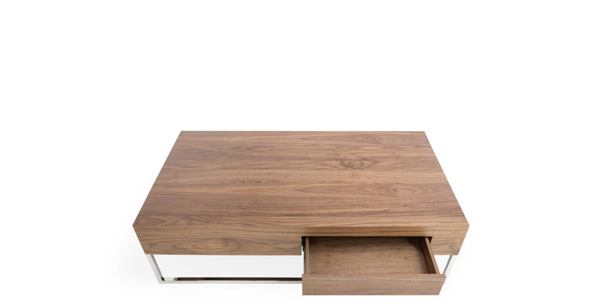 """13""""H X 47.2""""L X 27.5""""W Walnut Coffee Table TBL014606"""