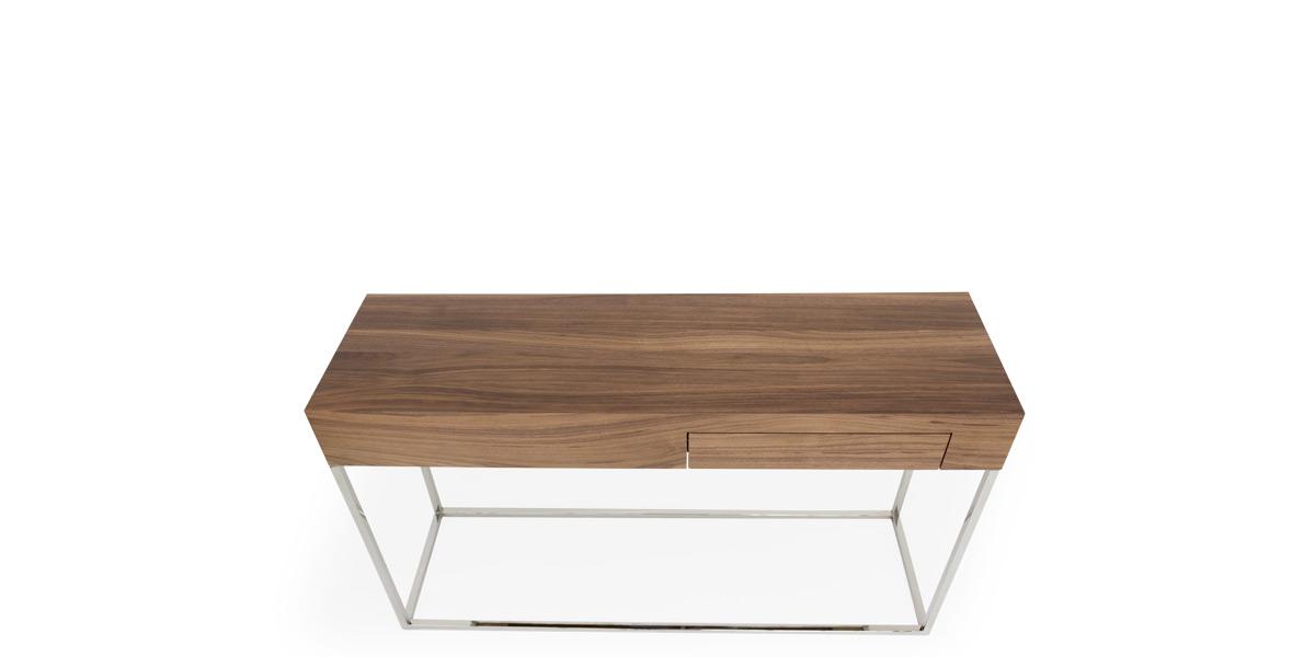 "30""H X 53""W X 15.7""D Walnut Console Table TBL014607"