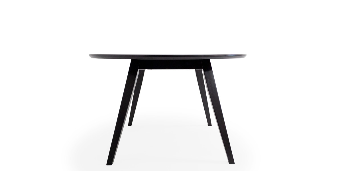 "30""H 47.5"" Dia Round Black Wood Table TBR014658"