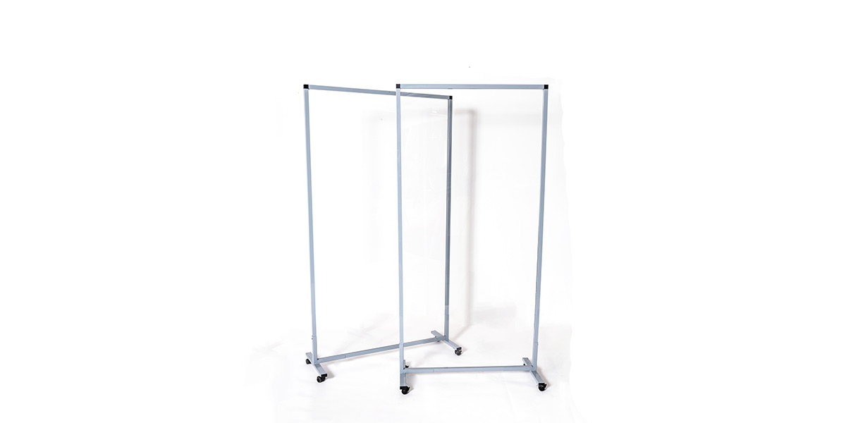"72""H X 36""W Clear Mobile Partition PAN014737"