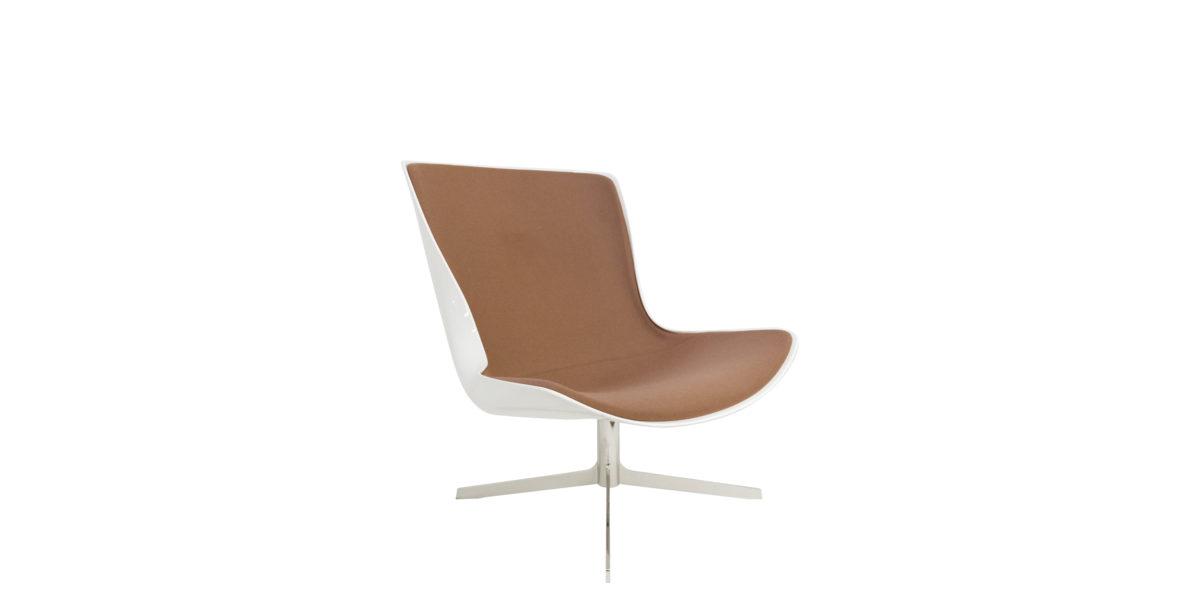 Lounge Chair White Fiberglass Shell CHR014695