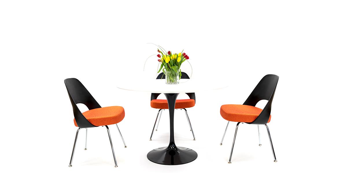 Saarinen Side Chair Orange CHR014773