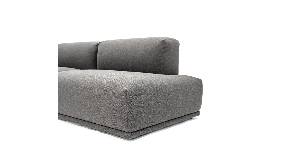 """Three Piece Muuto Sofa 128 1/4"""" SOF014780"""