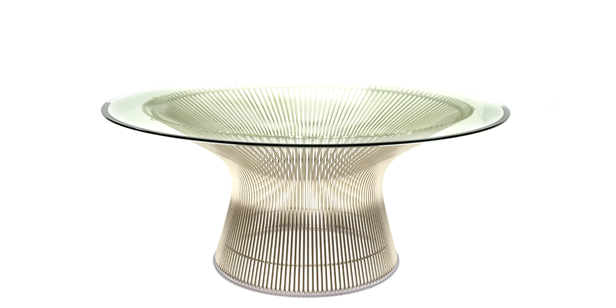 """36"""" Round Glass Coffee Table TBL014768"""