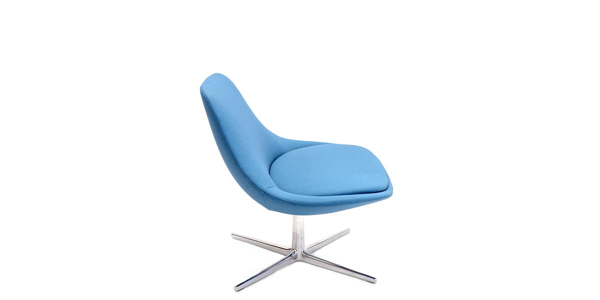 Blue Swivel Lounge Chair CHR014693