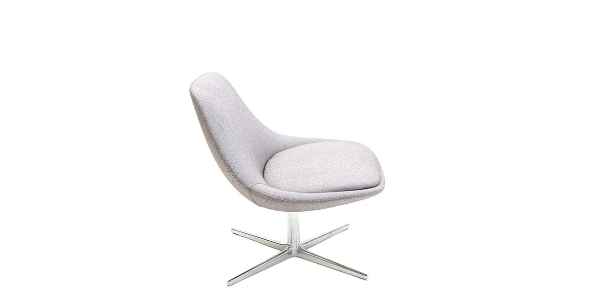 Light Grey Swivel Lounge Chair CHR014694