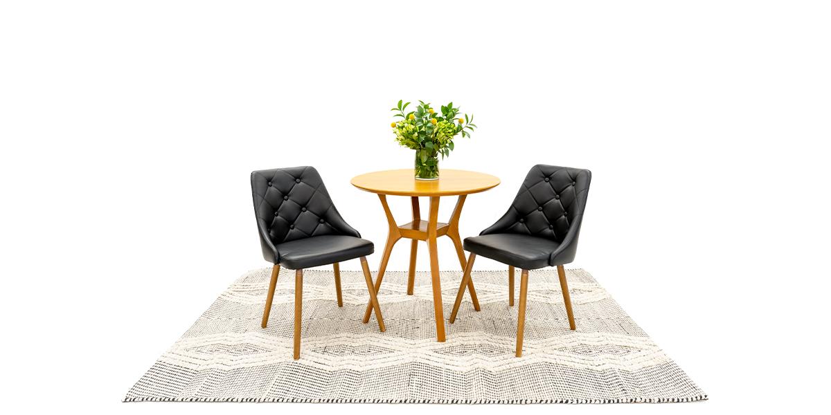 Black Vinyl Chair with Wood Legs CHR014798