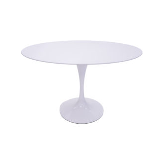 """48"""" Oval White Conference/Dining Table TBL014792"""