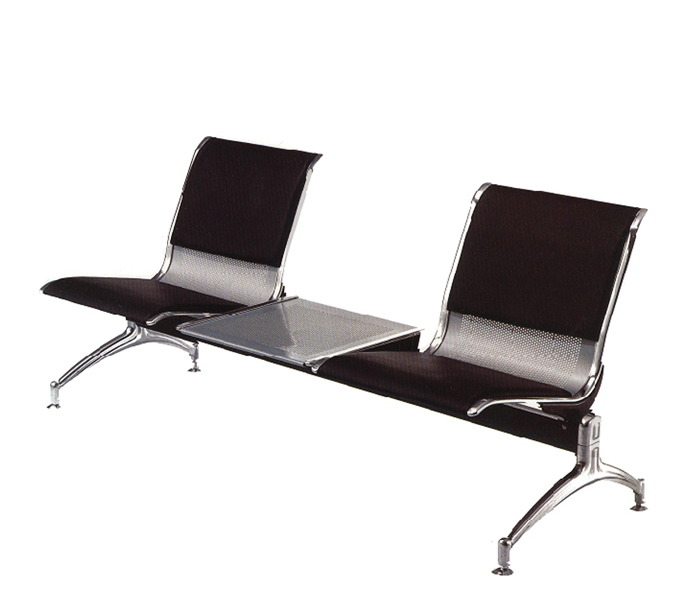 "72""w x 24""d Black Leather Tandem Bench BEN011056"