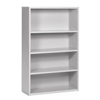 "48""h + 72""h Light Grey Bookcase BKC000349 + BKC000448"