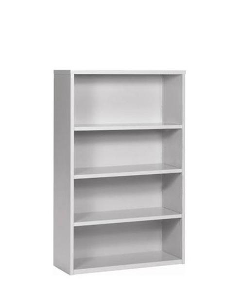 "48""h + 72""h Light Grey Bookcase BKC000349 + BKC000448"