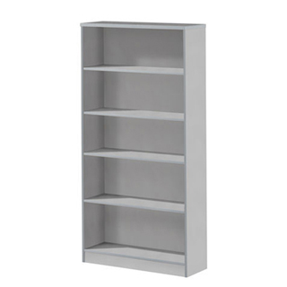 "36""w x 72""h Light Grey Laminate Bookcase BKC001181"