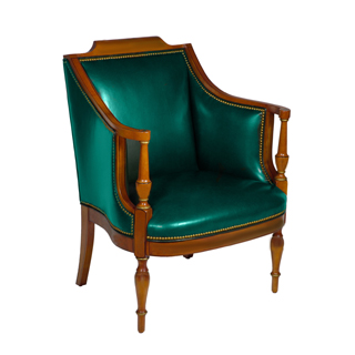 Green Leather Arm Chair CHR000862