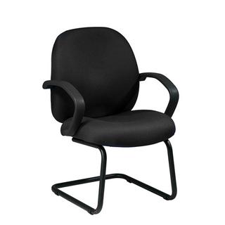 Black Fabric Guest Arm Chair CHR009813