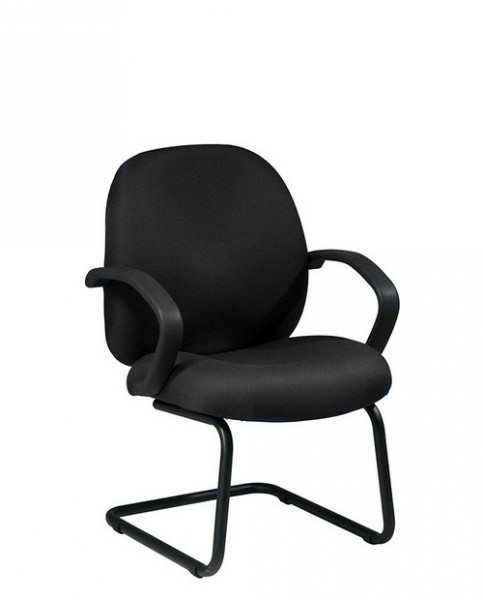 Black Fabric Guest Arm Chair CHR009813