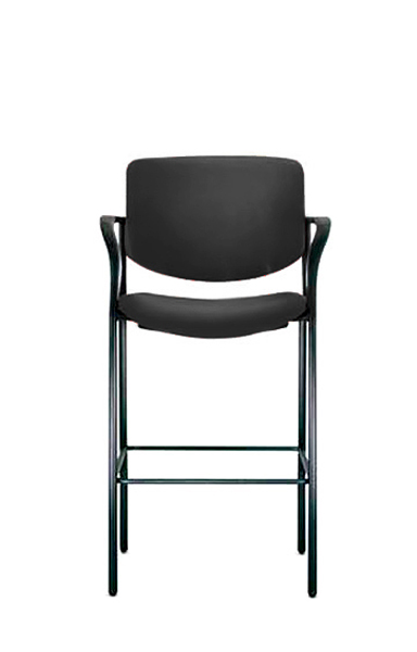 Black Fabric Bar Stool CHR010325