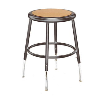 Polished Grey Metal Stool CHR010746