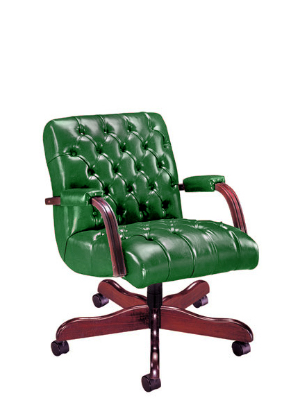 Green Vinyl Executive Mid-Back Office Chair CHR011264