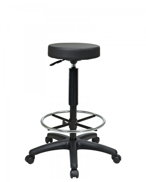 Black Backless Task Stool CHR011752